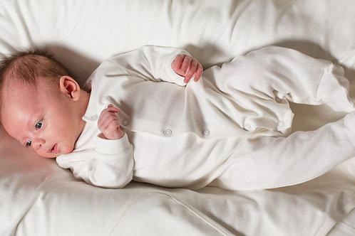 Little Green Radicals Long Sleeve Footed Babygrow