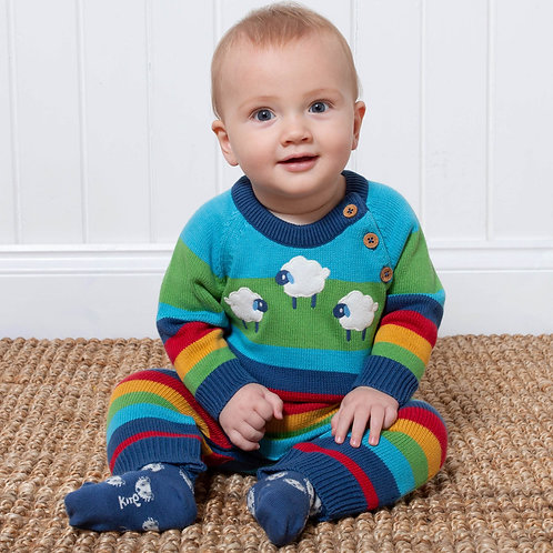 Kite Sheepy Days Rainbow Knit Romper