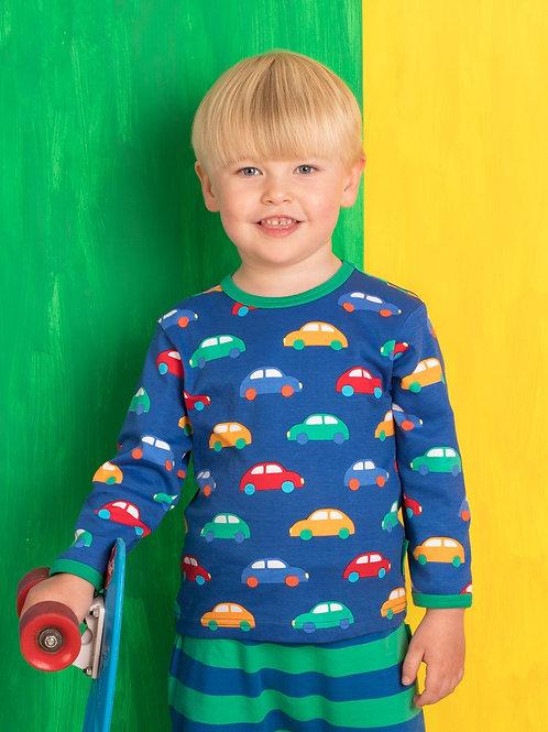 Toby Tiger Organic Car Print Long Sleeve T-shirt