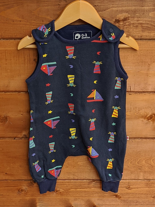 Piccalilly Lighthouse Dungarees