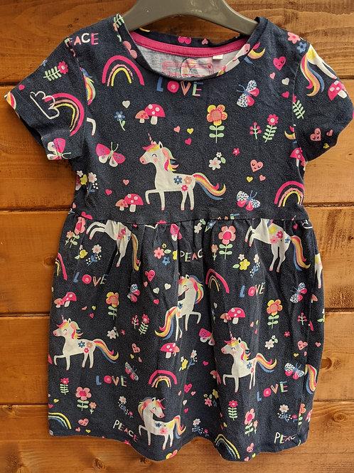 Blue Zoo Unicorn & Rainbows Dress