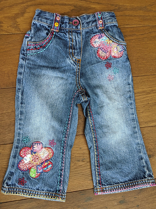 Next Flower Power Patch Jeans