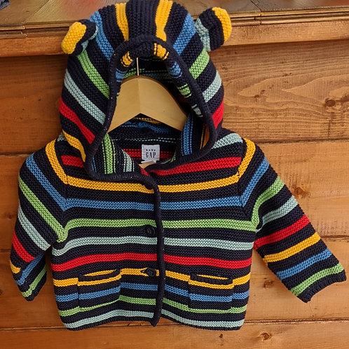 Gap Rainbow Strip Knitted Cardigan