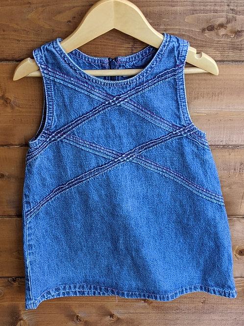 Cherokee Denim Pinafore Dress