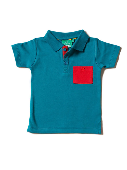 Little Green Radicals Teal Polo