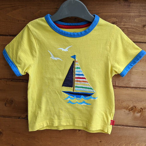 Little Bird Retro Sail Boat T-Shirt