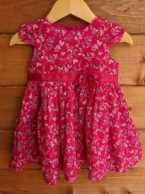 George Flowers & Butterflies Party Dress