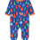 Thumbnail: Toby Tiger Organic Camping Bear Print Sleepsuit