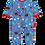 Thumbnail: Toby Tiger Organic Woodland Print Sleepsuit