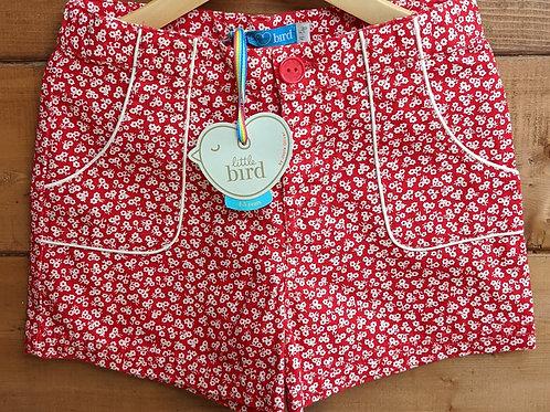 Little Bird Retro Red Floral Shorts
