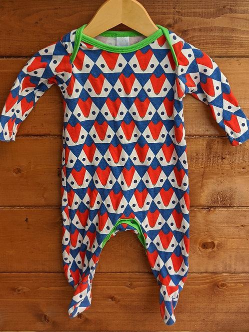 Mini Club Geometric Foxes Sleepsuit