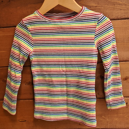 Next Rainbow Stripe  Ribbed Top