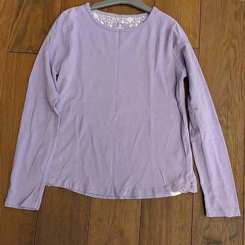 Fat Face Plain Purple Long Sleeve Top