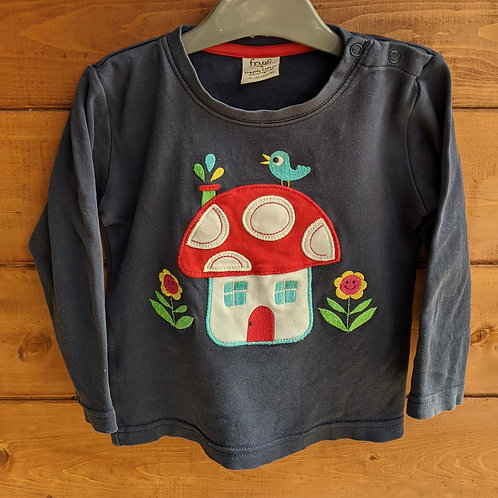 Frugi Little Discovery Mushroom Applique Top