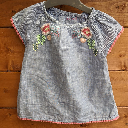Nutmeg Embroidered Smock Top