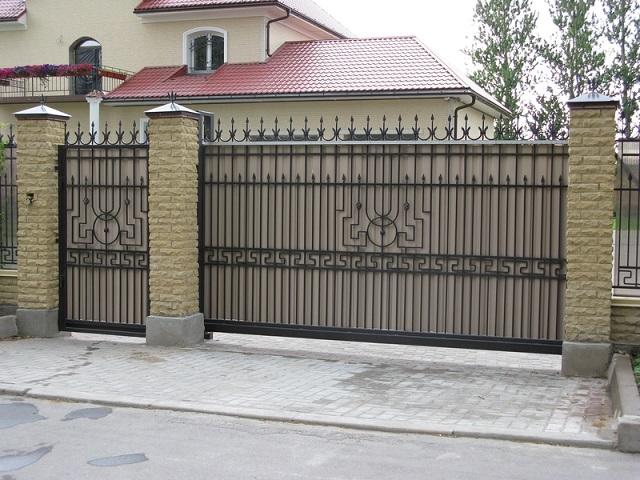 Производство откатных ворот узор