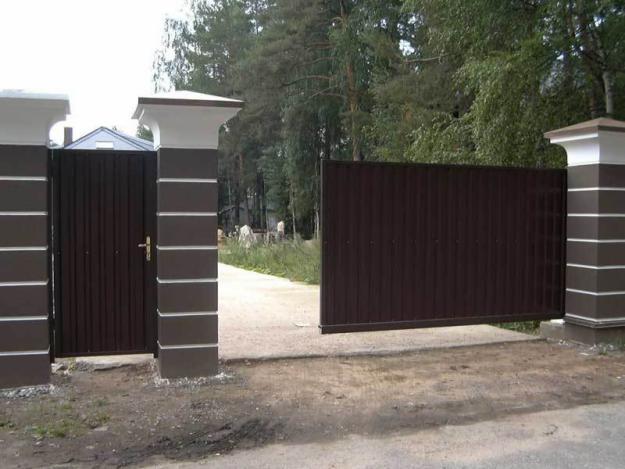 Производство откатных ворот для дома