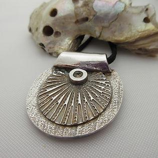 Handcrafted Silver Sporran Necklace g
