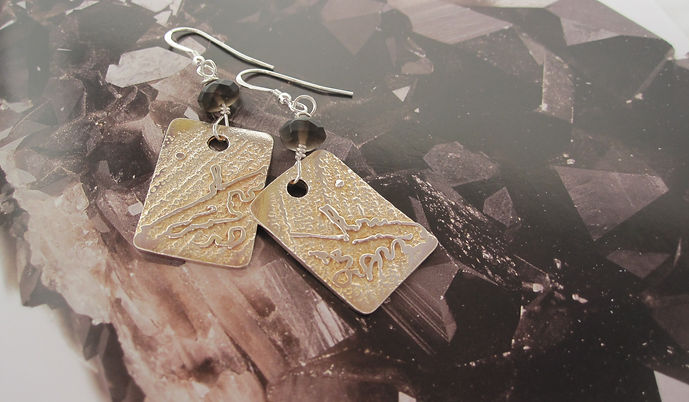 Handcrafted Silver Earrings Old Man of S