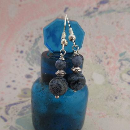 Denim  Blue Jasper Earrings