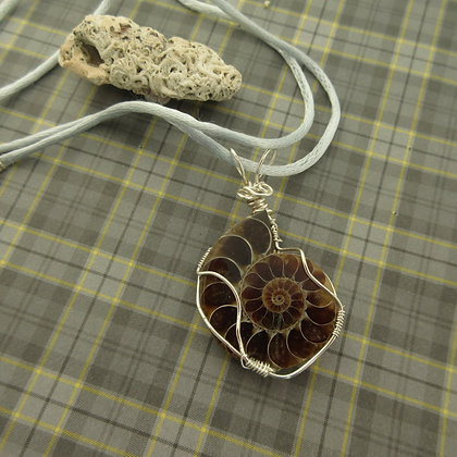 Fossil Pendant, Silver Plated