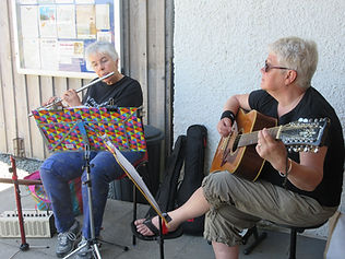 Denise and Sue give us a tune.jpg