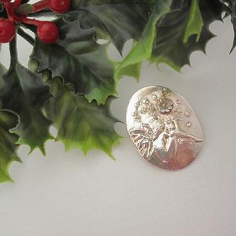 handcrafted silver brooch fairy xmas 3.j