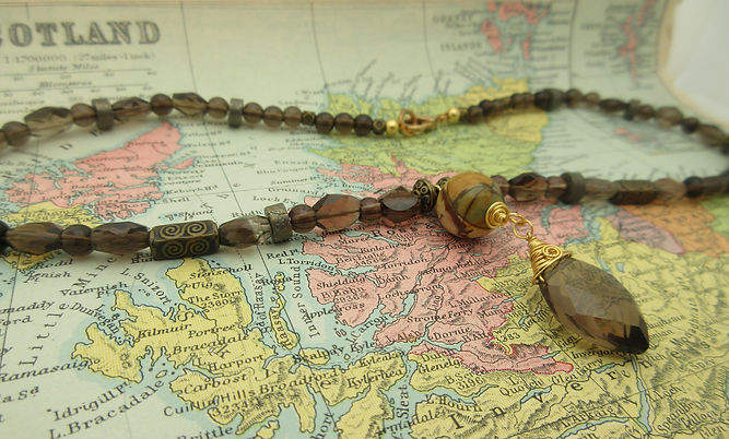 Smokey Quartz and Jasper necklace landsc