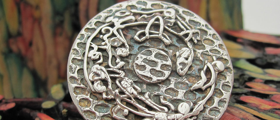 Handcrafted Silver Brooch