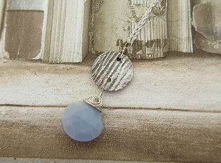 handcrafted silver blue opal pendant 7.j