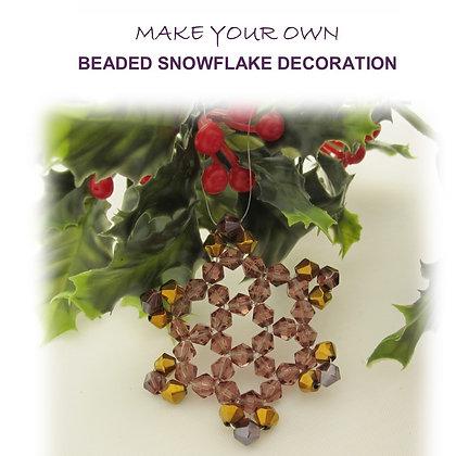 Beaded Snowflake Decoration Kit