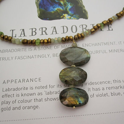 Labradorite Triple Pendant