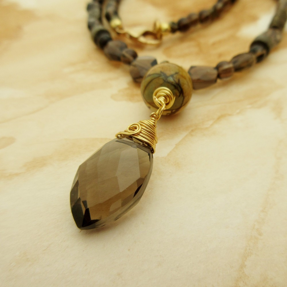 Smokey Quartz Necklace by Indigo Berry