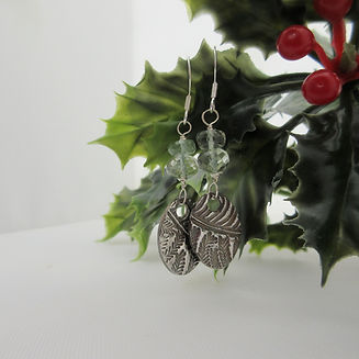 Handcrafted Silver Earrings with Prasiol
