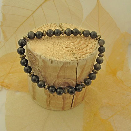 Gemstone Bracelet, Golden Obsidian