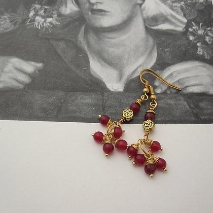 Red Quartz Drop Earrings
