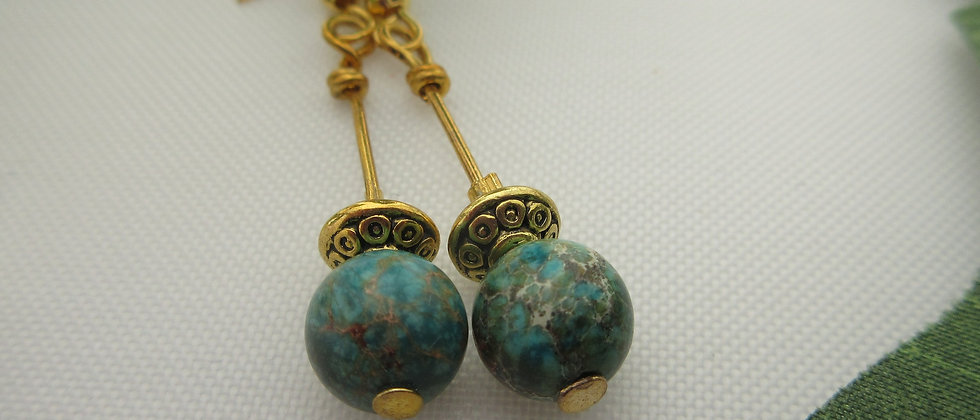 Sea Green Terra Jasper Earrings