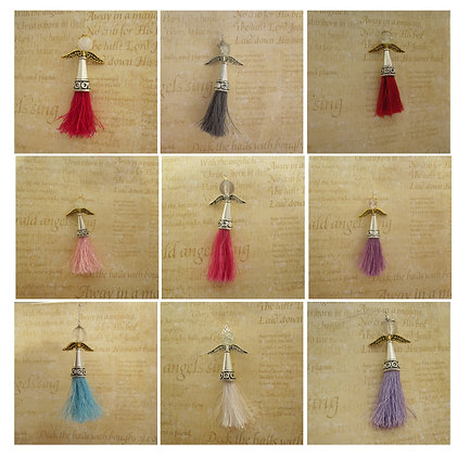Angel Decoration with Tassel, Celtic Style - choice of colours