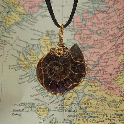 Fossil Pendant, Unisex Jewellery