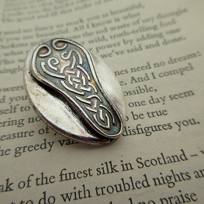 Handcrafted Silver Brooch, Celtic Style