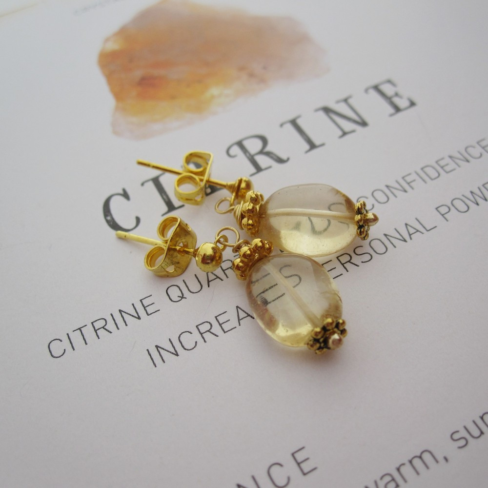 Citrine Earrings by Indigo Berry