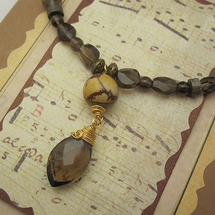 Smokey Quartz, Statement necklace, made in Scotland