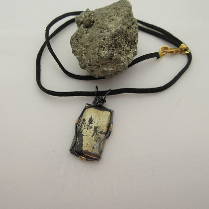 Pyrite Pendant, Unisex Jewellery, Gift For Him, Made in Scotland