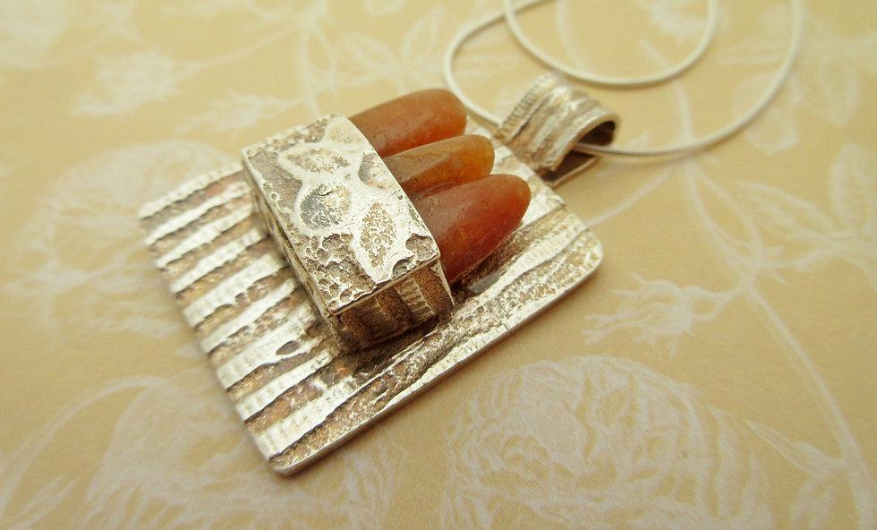 handcrafted silver box pendant landscape