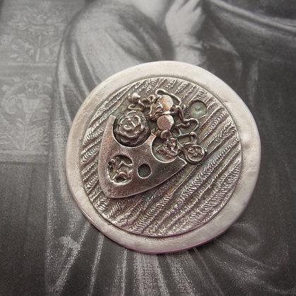 Handcrafted Silver Brooch, Floral Design