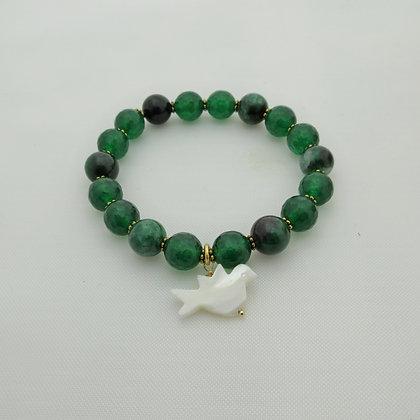 Gemstone Bracelet, Green Quartz