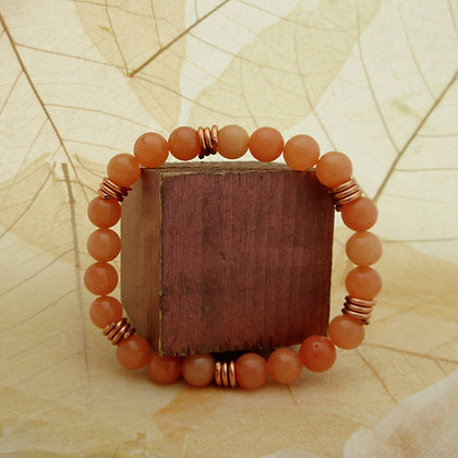 Gemstone Bracelet, Orange Quartz