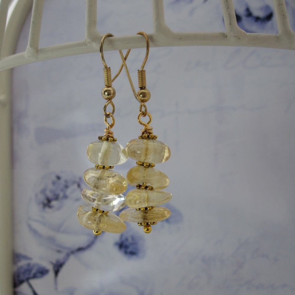 Citrine Drop Earrings by Indigo Berry