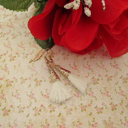 Prasiolite Tassel Earrings, Rose Gold Plated