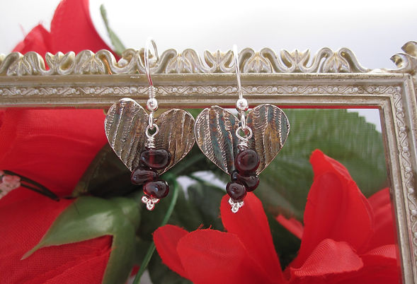 handcrafted silver hearts garnet landsca